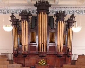 The organ case